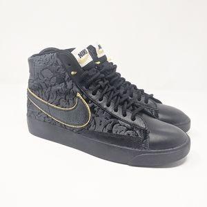 Culpa Desierto su  Nike Shoes | Nike Blazer Mid Velvet Blkmetallic Gldav84370 | Poshmark
